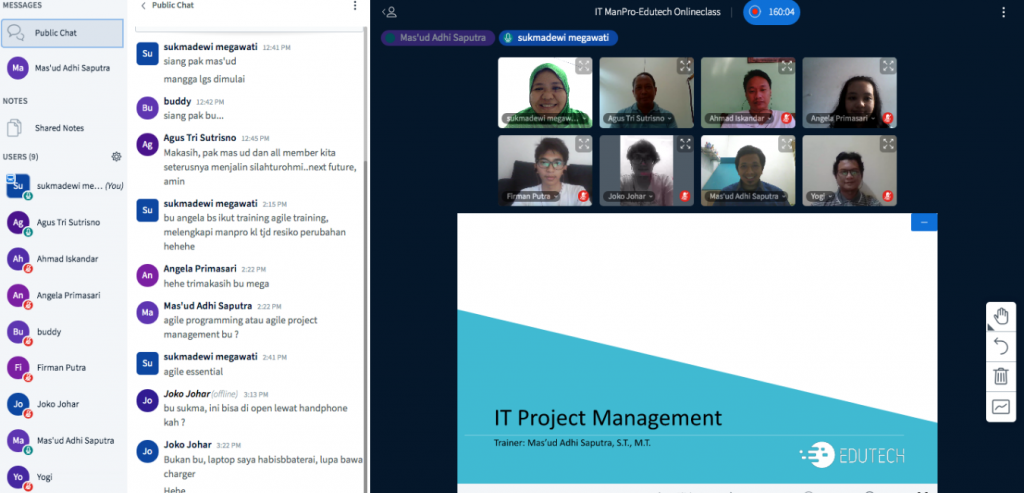 Training Online IT Project Management with Microsoft Project Application